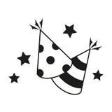 Icono del vector del sombrero del partido Imagen de archivo