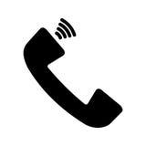 Icono del vector del teléfono Fotografía de archivo libre de regalías