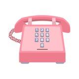 Icono del vector del teléfono de la oficina Fotografía de archivo libre de regalías