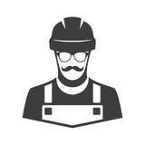 Icono del vector del trabajador Foto de archivo libre de regalías