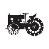 Icono del vector del tractor del vintage Imágenes de archivo libres de regalías