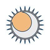 Icono del vector del eclipse ilustración del vector