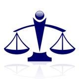 Escalas de la justicia Fotografía de archivo