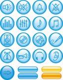 Icono del vector fijado - sonido Foto de archivo libre de regalías