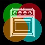 icono del vector del horno de la estufa stock de ilustración