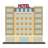 Icono del vector del hotel Imagen de archivo libre de regalías