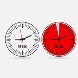 icono del vector del reloj de 58 segundos Imagenes de archivo
