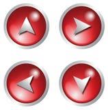 Icono del vector - rojo del botón 3d fotos de archivo libres de regalías