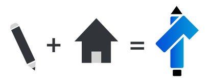 Icono del vector del símbolo arquitectónico ilustración del vector