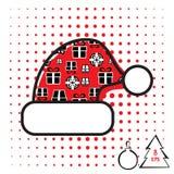 Icono del vector del sombrero de la Navidad Foto de archivo libre de regalías