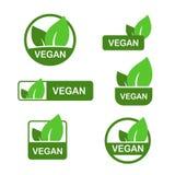 Icono del vector del vegano, bio muestra del eco, concepto vegetariano de la nutrición natural, comida cruda Etiqueta engomada pl ilustración del vector