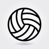 Icono del vector del voleibol, icono de los deportes del voleo, símbolo de la bola de los deportes Esquema moderno, simple, ejemp stock de ilustración