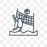 Icono del vector del voleibol de playa aislado en fondo transparente, ilustración del vector