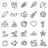 Icono del verano fijado para el móvil y el web libre illustration