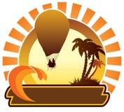 Icono del verano - globo stock de ilustración