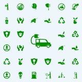 Icono del verde del coche de Electra sistema universal de los iconos de Greenpeace para el web y el móvil stock de ilustración