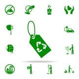 icono del verde de la etiqueta de la reanudación sistema universal de los iconos de Greenpeace para el web y el móvil libre illustration