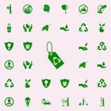 icono del verde de la etiqueta de la reanudación sistema universal de los iconos de Greenpeace para el web y el móvil ilustración del vector