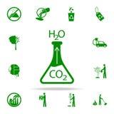 icono del verde de la experiencia del laboratorio sistema universal de los iconos de Greenpeace para el web y el móvil ilustración del vector