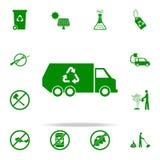 icono del verde de la máquina del reciclaje de residuos sistema universal de los iconos de Greenpeace para el web y el móvil libre illustration