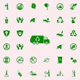 icono del verde de la máquina del reciclaje de residuos sistema universal de los iconos de Greenpeace para el web y el móvil stock de ilustración