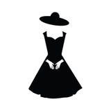 Icono del vestido de la mujer Ilustración del vector Imágenes de archivo libres de regalías