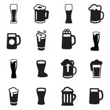 Icono del vidrio de cerveza de la bebida stock de ilustración