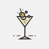 Icono del vidrio de Martini ilustración del vector