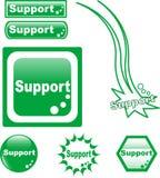 Icono del vidrio del Web del botón de la AYUDA Fotografía de archivo libre de regalías