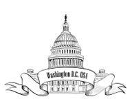 Icono del Washington DC Foto de archivo libre de regalías