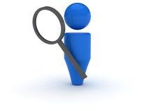 icono del Web 3d - búsqueda Foto de archivo libre de regalías