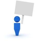 icono del Web 3d - cartel en blanco Foto de archivo libre de regalías