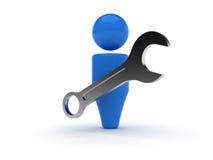 icono del Web 3d - herramientas, opciones, perfil Imagen de archivo