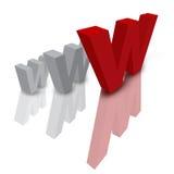 Icono del Web Fotografía de archivo libre de regalías