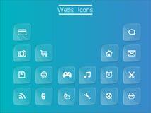 Icono del Web Fotos de archivo
