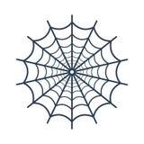 Icono del web de araña en el fondo blanco Foto de archivo