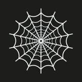 Icono del web de araña en fondo negro Fotos de archivo libres de regalías