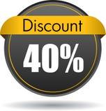 Icono del web de 40 descuentos stock de ilustración