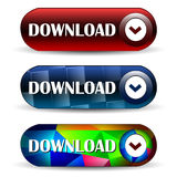Icono del web de la barra de la transferencia directa Foto de archivo libre de regalías