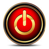 Icono del Web de la potencia Fotografía de archivo