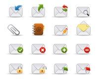 Icono del Web del correo | Serie lisa Foto de archivo libre de regalías