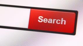 Icono del web en la pantalla llevada almacen de metraje de vídeo