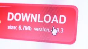 Icono del web en la pantalla llevada stock de ilustración