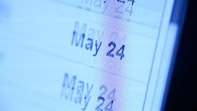 Icono del web en la pantalla llevada almacen de video