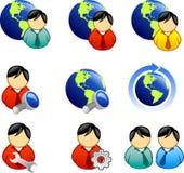 Icono del Web y del Internet Fotos de archivo libres de regalías