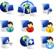 Icono del Web y del Internet Imagen de archivo