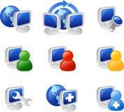Icono del Web y del Internet Imagenes de archivo