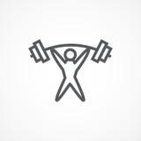 Icono del Weightlifter Foto de archivo libre de regalías