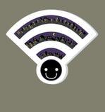 Icono del wifi de la red inalámbrica, ejemplo del vector Fotos de archivo libres de regalías