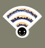 Icono del wifi de la red inalámbrica, ejemplo del vector Foto de archivo libre de regalías